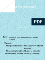 Water Pollution Study