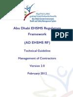 AD EHSMS RF - TG - Managament of Contractors