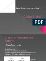 Coisas Importantes Sobre Carboidratos