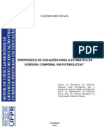 Proposicao de Equacoes Para a Estimativa Da Gordura Corporal Em Futebolistas - Luiz Fernando Novack