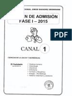 Examen Fase 1 2015 Canal 1