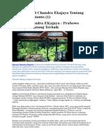 Catatan Kecil Chandra Ekajaya Tentang Prabowo Subianto (1)