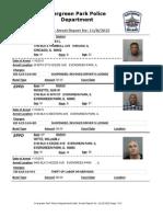 Evergreen Park Arrests Nov. 1-Nov. 5 2015