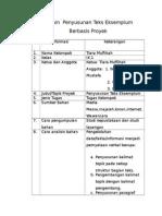 Desain Penyusunan Teks Eksemplum Berbasis Proyek