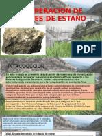 Recuperacion de Relaves de Estaño(Exposicion)