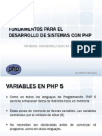 FDP 03 - Variables en PHP