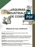 máquinas de cose industriales