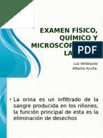 Examen Físico, Químico y microscopico de La Orina