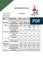 Weekly Curriculum Nov 09 '15