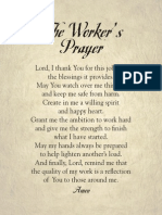 The Workers Prayer