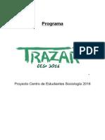 Programa  CESo 2016 - Trazar