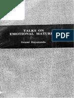 Talks on Emotional Maturity
