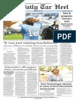 The Daily Tar Heel for Nov. 9, 2015