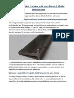 Barniz protector transparente para hierro | efecto antioxidante