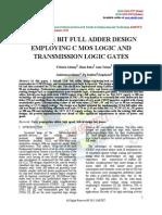 HYBRID 1 BIT FULL ADDER DESIGN EMPLOYING C MOS LOGIC AND TRANSMISSION LOGIC GATES