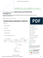 Connected Lookup Transformation in Informatica