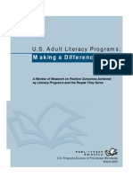 US Adult Lit Programs Making a Difference Research Review