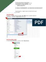 Habilitar Macros en Excel 2007-2010-2013.