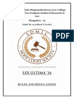 Lex Ultime - Rules and Regulations