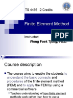 Lecture 1 Overview of the FEM