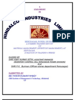 """Prolect report of '' Material Management of Renusager Power Divison (Hindalco Industries Ltd.)"""""""