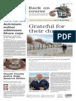 Asbury Park Press front page Monday, Nov. 9 2015