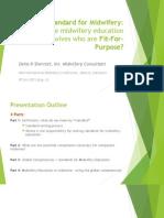 Della - Standard for MW Education for EB Midwifery_ Day 2