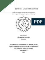 Fajar R Saputra_K2513021_Potensi Energi Angin Di Sulawesi