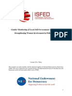 Gender Monitoring of Local Self-government Agencies and Strengthening Women Involvement in Political Life 2014