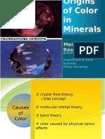 Origins of Color in Minerals