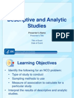 Desc and Analytic Studies Ppt Final 09252013