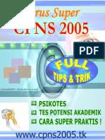 Jurus Super Cpns 2005