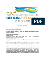 RESUMEN POSTERS - ACBS Annual World Conference 13 (Berlín, 2015)