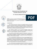 Resolución N°130-2015-SINEACE-CDAH-P