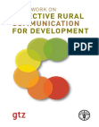 Study on Effective Rural Communication for Development