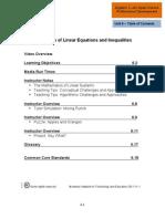 Algebra I PD U06 InstrGuide v1.1