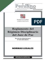 Reglamento Del Regimen Disciplinario Del Juez de Paz