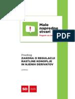 Predlog Zakona o regulaciji rastline konoplje in njenih derivatov (ZRRKD)