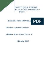 Definición de Recibo de Honorarios i.p. Perú