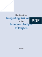 Handbook for Integrating Risk Analysis in the Economiocs Analysis of Projects - Asian Development Bank