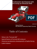 Aerodynamics Low Speed Race Car (FSAE)