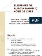 Elemente de Chirurgia Mainii (i) - Note