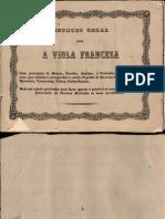 AGUEDO, Manuel Nunes, Fl. 1856 Methodo Geral Para Viola Franceza