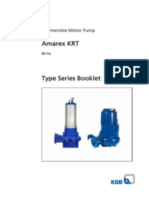 Catalogo Amarex KRT 60 Hz pdf | Bearing (Mechanical) | Pump