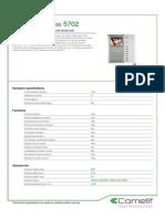 Comelit 5702 Data Sheet