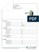 Comelit 5733 Data Sheet