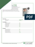 Comelit 5722 Data Sheet
