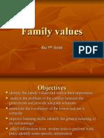 FAMILY VALUES.ppt