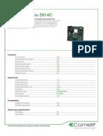 Comelit 5914C Data Sheet