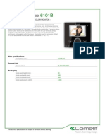 Comelit 6101B Data Sheet
